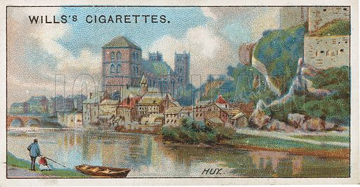 Huy. Illustration for early 20th century cigarette card.