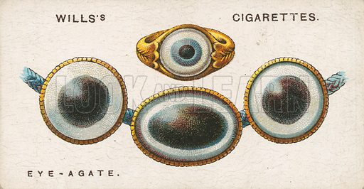 Eye-Agate. Illustration for early 20th century cigarette card.