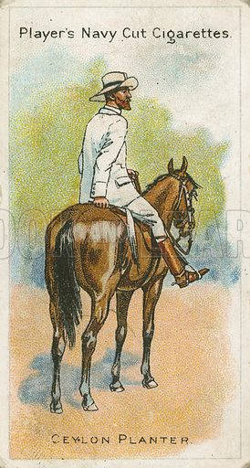 Ceylon Planter. Illustration for early 20th century cigarette card.