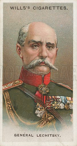 General Lechitsky. Illustration for early 20th century cigarette card.