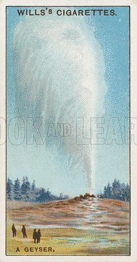 A Geyser. Illustration for early 20th century cigarette card.