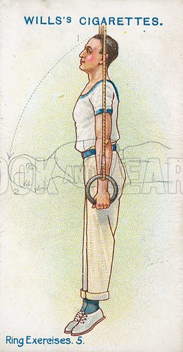 Ring Exercises. 5. Illustration for early 20th century cigarette card.