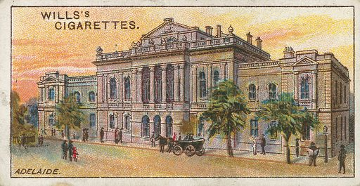 Adelaide. Illustration for early 20th century cigarette card.