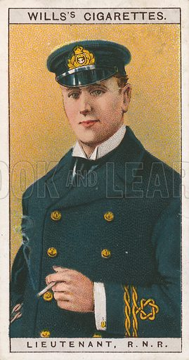 Lieutenant, R. N. R. Illustration for early 20th century cigarette card.
