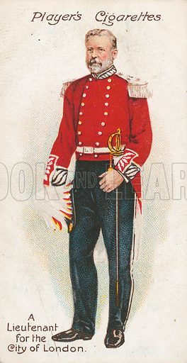 A Lieutenant for the City of London. Illustration for early 20th century cigarette card.