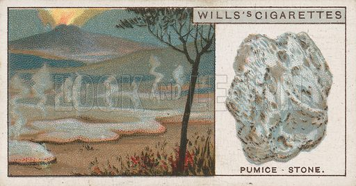 Pumice-Stone. Illustration for early 20th century cigarette card.