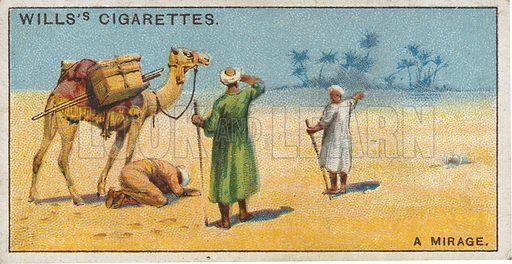 A Mirage. Illustration for early 20th century cigarette card.