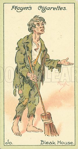 Jo. Illustration for early 20th century cigarette card.