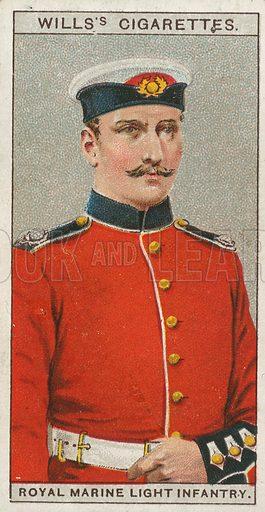 Royal Marine Light Infantry. Illustration for early 20th century cigarette card.