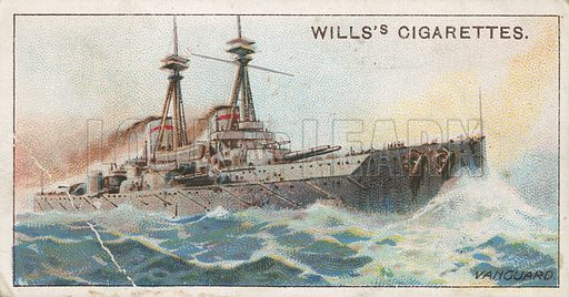 Vanguard. Illustration for early 20th century cigarette card.