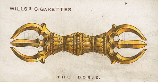 The Dorje. Illustration for early 20th century cigarette card.