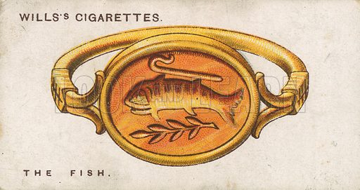 The Fish. Illustration for early 20th century cigarette card.