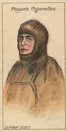 Captain Scott. Illustration for early 20th century cigarette card.
