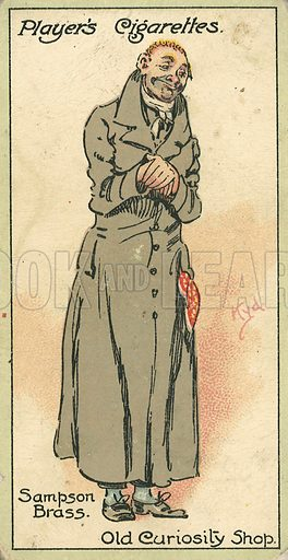 Sampson Brass. Illustration for early 20th century cigarette card.
