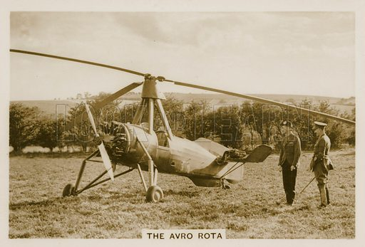 The Avro Rota. Illustration for early 20th century cigarette card.
