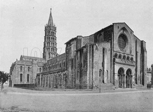 Toulouse - L'Eglise Saint-Sernin. Photograph for Le Panorama Merveilles de France (De Neurdein, c 1895).
