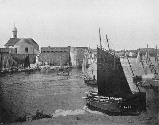 Concarneau. Photograph for Le Panorama Merveilles de France (De Neurdein, c 1895).