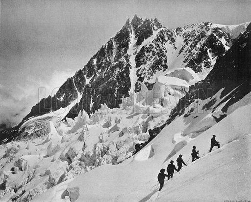Le Mont-Blanc - Passage Sous les Grands Mulets. Photograph for Le Panorama Merveilles de France (De Neurdein, c 1895).