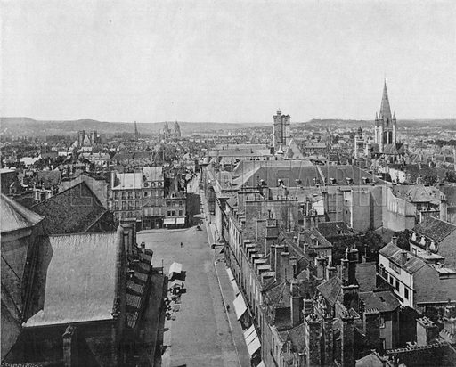Dijon vue Generale. Photograph for Le Panorama Merveilles de France (De Neurdein, c 1895).