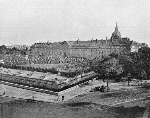 Paris - Les Invalides. Photograph for Le Panorama Merveilles de France (De Neurdein, c 1895).