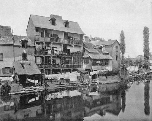 """Rennes - Vieille Maison Dite le """"Chateau Branlant"""". Photograph for Le Panorama Merveilles de France (De Neurdein, c 1895)."""