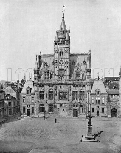 Compiegne - L'Hotel de Ville. Photograph for Le Panorama Merveilles de France (De Neurdein, c 1895).