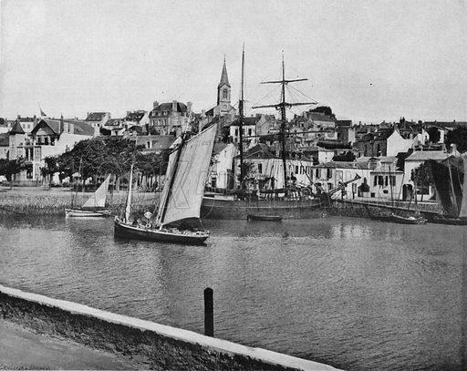 Pornic. Photograph for Le Panorama Merveilles de France (De Neurdein, c 1895).