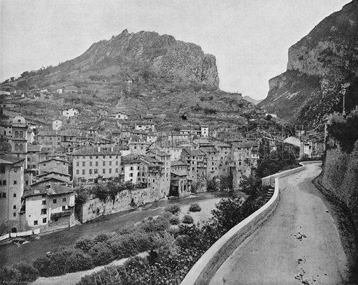Dauphine - Pont-en-Royans. Photograph for Le Panorama Merveilles de France (De Neurdein, c 1895).