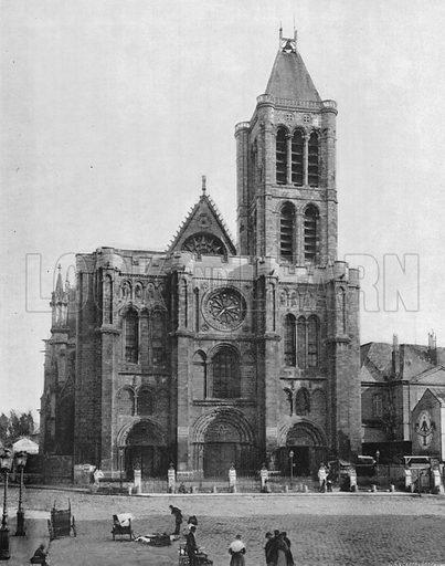 Abbaye de Saint-Denis. Photograph for Le Panorama Merveilles de France (De Neurdein, c 1895).