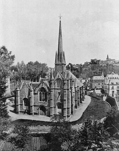 Fougeres - L'Eglise Saint-Sulpice. Photograph for Le Panorama Merveilles de France (De Neurdein, c 1895).