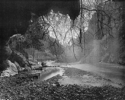 Environs de Nice - Interieur de la Grotte Saint-Andre. Photograph for Le Panorama Merveilles de France (De Neurdein, c 1895).