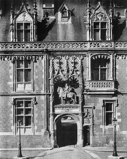 Chateau de Blois - La Porterie. Photograph for Le Panorama Merveilles de France (De Neurdein, c 1895).
