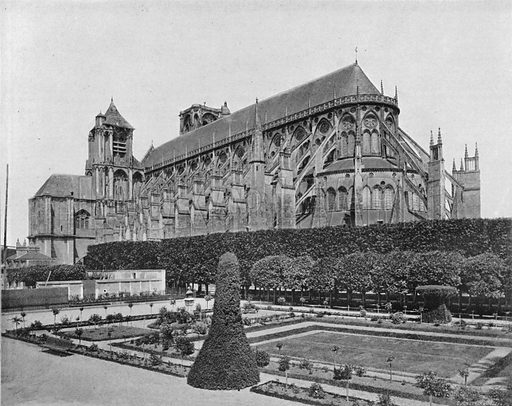 Bourges - La Cathedrale. Photograph for Le Panorama Merveilles de France (De Neurdein, c 1895).