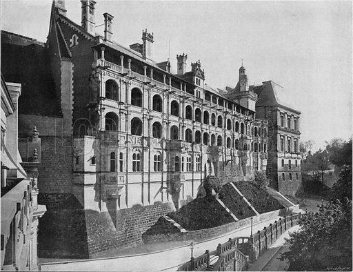 Chateau de Blois - Aile de Francois I Facade Exterieure. Photograph for Le Panorama Merveilles de France (De Neurdein, c 1895).