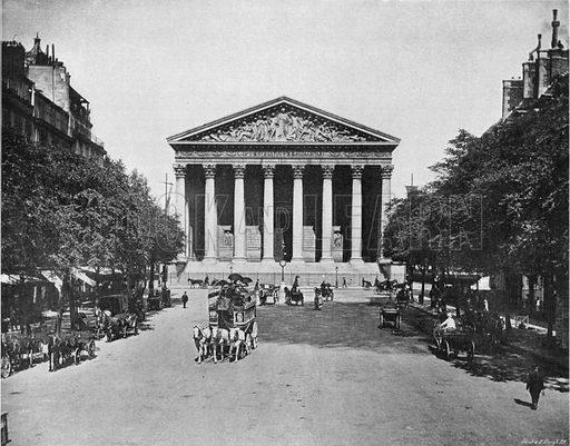 Paris - La Rue Royale et la Madeleine. Photograph for Le Panorama Merveilles de France (De Neurdein, c 1895).