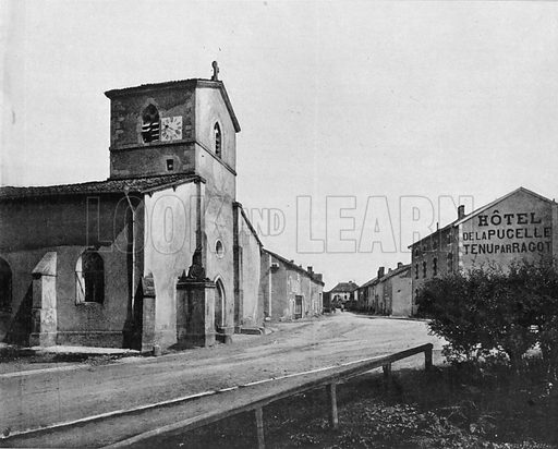 Domremy - L'Eglise. Photograph for Le Panorama Merveilles de France (De Neurdein, c 1895).