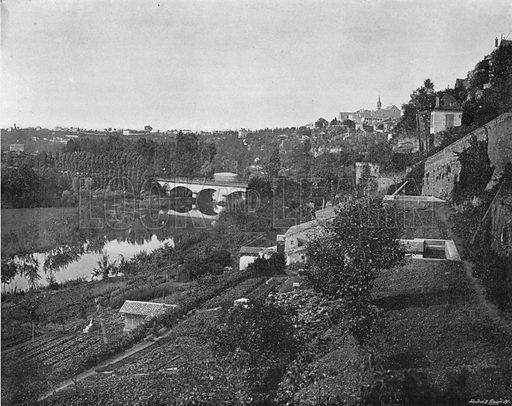 Poitiers - La Vallee du Clain. Photograph for Le Panorama Merveilles de France (De Neurdein, c 1895).