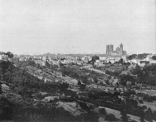 Laon - Vue Generale. Photograph for Le Panorama Merveilles de France (De Neurdein, c 1895).