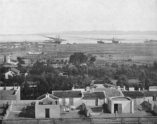 Vue Generale du Canal de Tunis a la Mer. Photograph for Le Panorama Merveilles de France (De Neurdein, c 1895).