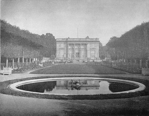 Versailles - Le Petit-Trianon. Photograph for Le Panorama Merveilles de France (De Neurdein, c 1895).