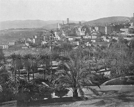 Grasse - Vue Generale. Photograph for Le Panorama Merveilles de France (De Neurdein, c 1895).