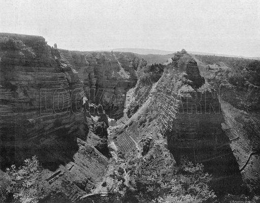 Les Gorges du Tarn - Bramabiau, Sur la Route de L'Aigoual. Photograph for Le Panorama Merveilles de France (De Neurdein, c 1895).