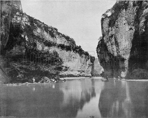 Les Gorges du Tarn - Le Detroit. Photograph for Le Panorama Merveilles de France (De Neurdein, c 1895).