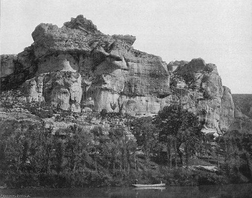 Les Gorges du Tarn - Les Baumes Basses. Photograph for Le Panorama Merveilles de France (De Neurdein, c 1895).