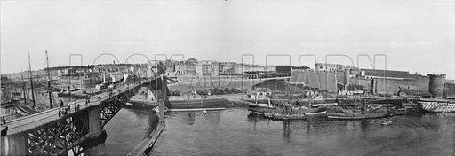 Brest - Le Pont Tournant et le Port Militaire. Photograph for Le Panorama Merveilles de France (De Neurdein, c 1895).