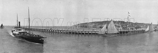 Panorama de Trouville. Photograph for Le Panorama Merveilles de France (De Neurdein, c 1895).