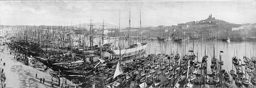Marseille - Le Vieux Port. Photograph for Le Panorama Merveilles de France (De Neurdein, c 1895).