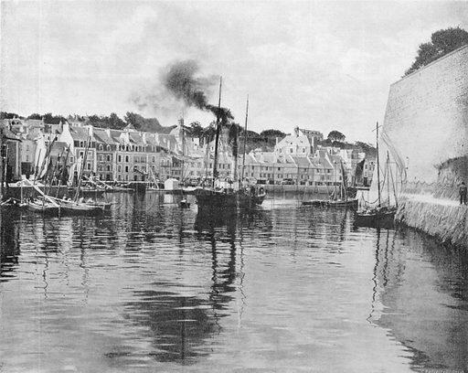 Belle-ile-en-Mer - Le Palais. Photograph for Le Panorama Merveilles de France (De Neurdein, c 1895).