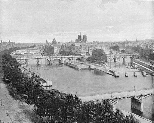 Paris - Panorama de la Cite. Photograph for Le Panorama Merveilles de France (De Neurdein, c 1895).
