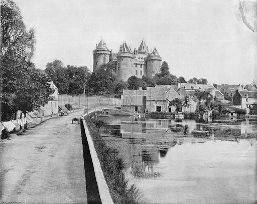 Le Chateau de combourg. Photograph for Le Panorama Merveilles de France (De Neurdein, c 1895).